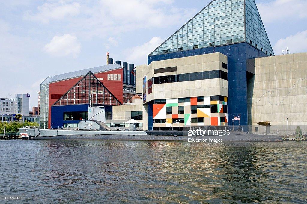 Baltimore Harbor Maryland National Aquarium