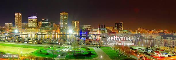Baltimore Inner Harbor panorama