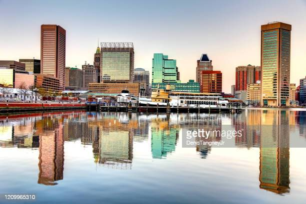 baltimore inner harbor - baltimore maryland stock pictures, royalty-free photos & images