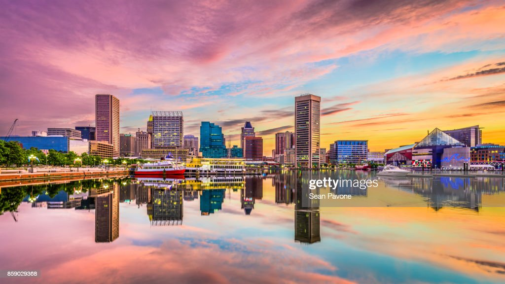 Baltimore, Maryland Skyline : Stock Photo