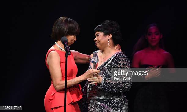 Baltimore mayor Catherine Pugh and April Ryan onstage during 2018 Urban One Honors at The Anthem on December 9 2018 in Washington DC