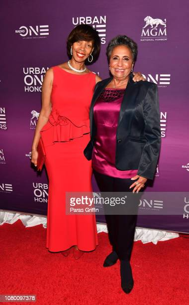 Baltimore mayor Catherine Pugh and Cathy Hughes attend 2018 Urban One Honors at La Vie on December 9 2018 in Washington DC