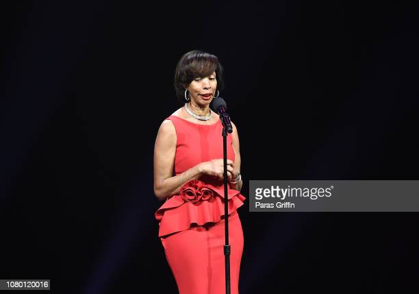 Baltimore Mayor Catherine Pugh speaks onstage during 2018 Urban One Honors at The Anthem on December 9 2018 in Washington DC