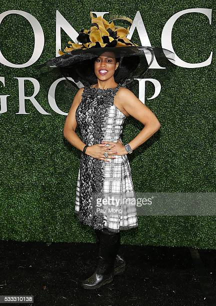 Baltimore Mayor Stephanie RawlingsBlake attends The Stronach Group Owner's Chalet at 141st The Preakness at Pimlico Race Course on May 21 2016 in...