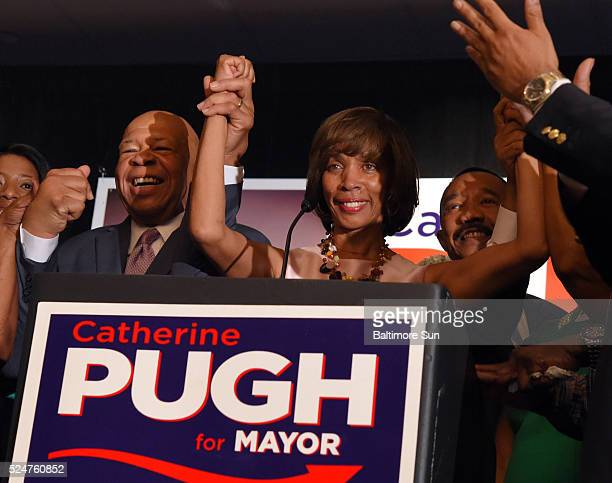 Baltimore mayoral candidate Catherine Pugh on election night with her staff and supporters at the Baltimore Harbor Hotel on Tuesday April 26 2016