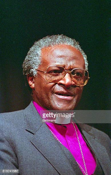 Baltimore: Nobel Peace Prize winner Rev. Desmond Tutu at Johns Hopkins University Hospital 1/10. Tutu gave a speech commemorating the life and...