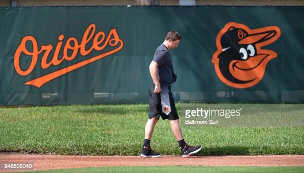 Baltimore Orioles closer Zach Britton on Feb 14 2018 at spring training in Sarasota Fla Britton will take a minor milestone step forward in his...