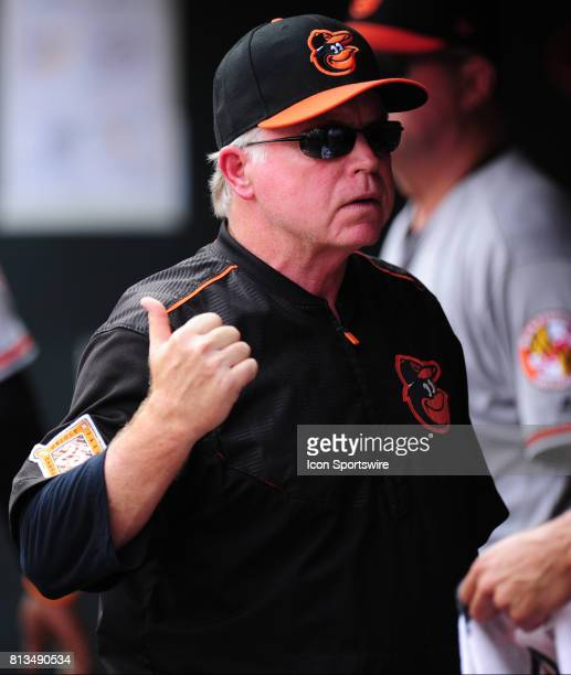 Baltimore Orioles manager Buck Showalter is seen in the dugout in the sixth inning of their Major League Baseball game against the Minnesota Twins on...