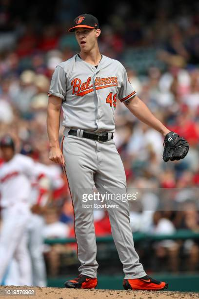 Baltimore Orioles pitcher Cody Carroll on the mound during the seventh inning of the Major League Baseball game between the Baltimore Orioles and...