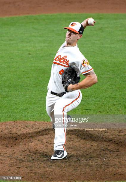Baltimore Orioles relief pitcher Cody Carroll pitches in the eighth inning during the game between the New York Mets and the Baltimore Orioles on...