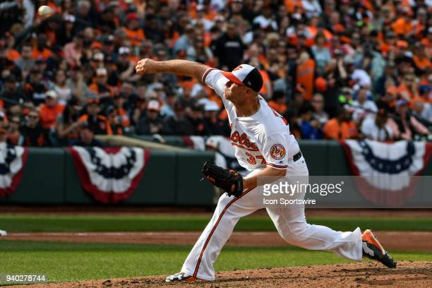 Baltimore Orioles starting pitcher Dylan Bundy pitches in the fifth inning during the Opening Day game between the Minnesota Twins and the Baltimore...
