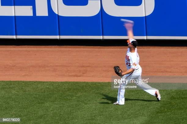 Baltimore Orioles starting pitcher Dylan Bundy warms up prior to the Opening Day game between the Minnesota Twins and the Baltimore Orioles on March...