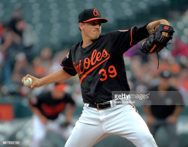 Baltimore Orioles starting pitcher Kevin Gausman throws against the St Louis Cardinals at Oriole Park at Camden Yards in Baltimore on Friday June 16...