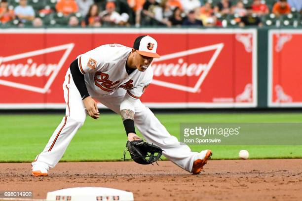 Baltimore Orioles third baseman Manny Machado during an MLB game between the Cleveland Indians and the Baltimore Orioles on June 19 at Orioles Park...