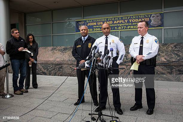 Baltimore Police Commissioner Anthony Batts speaks at a press conference regarding the death of Freddie Gray on April 30 2015 in Baltimore Maryland...