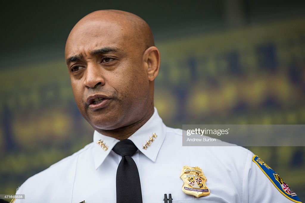 Baltimore Police Commissioner Anthony Batts speaks at a press conference regarding the death of Freddie Gray on April 30, 2015 in Baltimore, Maryland. It was announced that the van carrying Gray had stopped a second, previously undisclosed, time. Baltimore has seen days of rioting since Gray's death while in police custody.