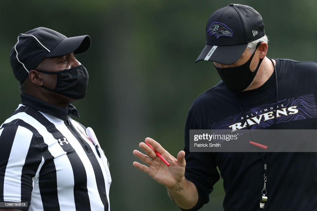 Baltimore Ravens Training Camp : News Photo