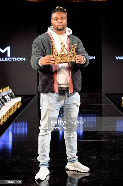 Baltimore Ravens Gus Edwards attends New York Fashion Week Powered by Art Hearts Fashion NYFW February 2020 Front Row – February 9 at The Angel...