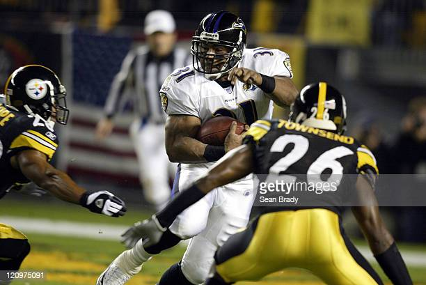 Baltimore Ravens Jamal Lewis in action against the Pittsburgh Steelers at Heinz Field in Pittsburgh Pennsylvania on October 31 2005