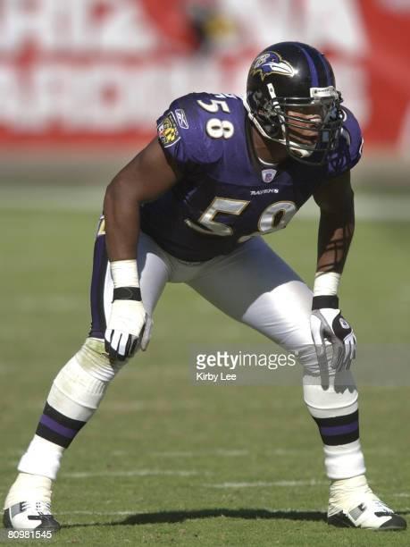 Baltimore Ravens linebacker Peter Boulware against the Arizona Cardinals.The Ravens defeated the Cardinals, 26-18, at Sun Devil Stadium on Sunday,...