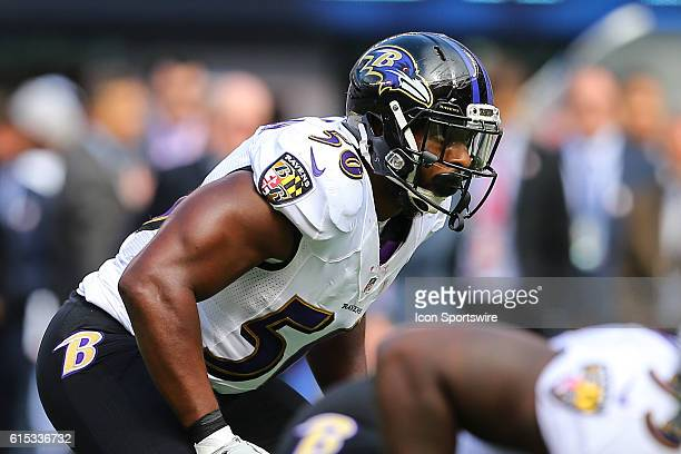 Baltimore Ravens outside linebacker Albert McClellan during the game between the New York Giants and the Baltimore Ravens played at Met Life Stadium...