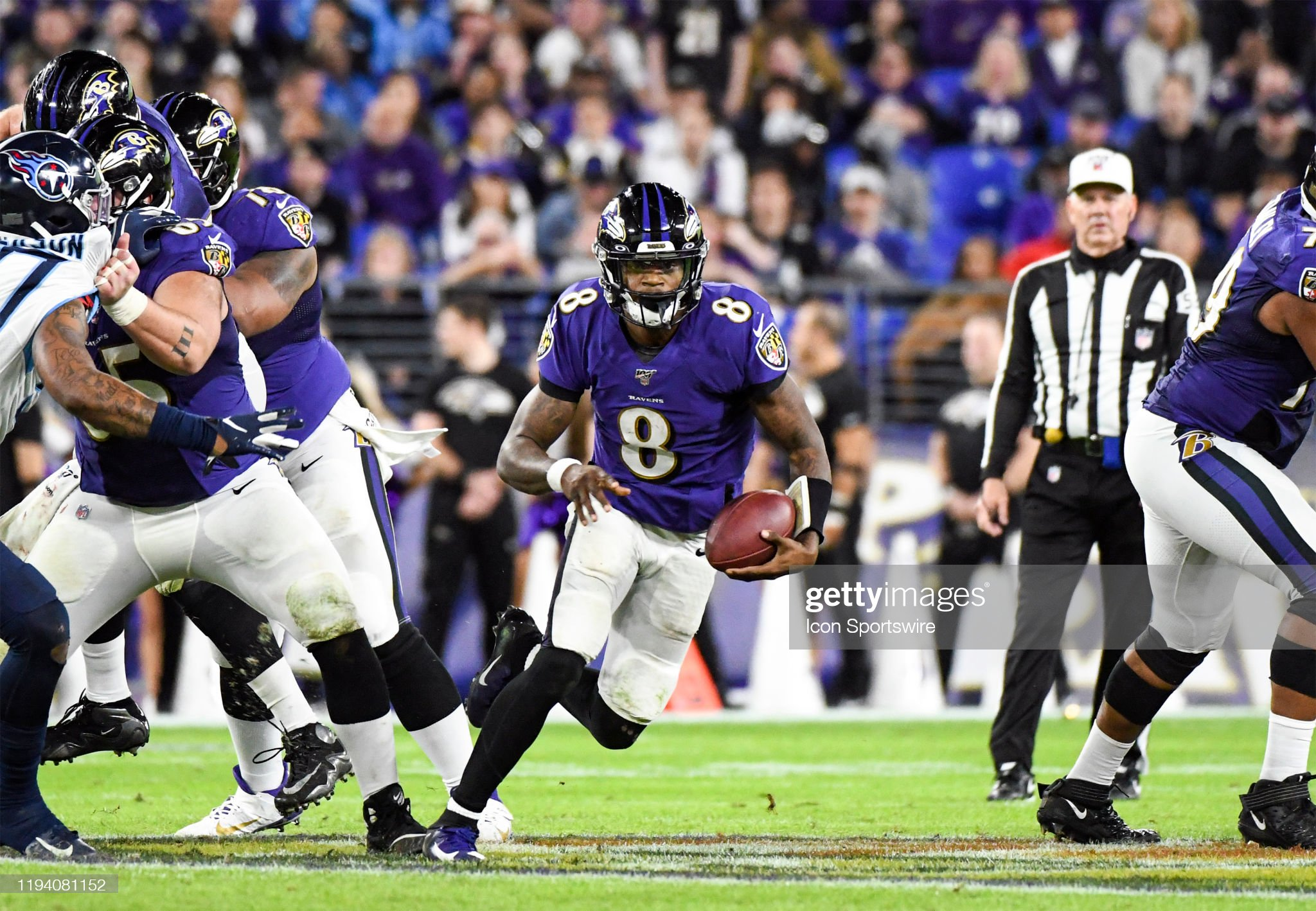 NFL: JAN 11 AFC Divisional Playoff - Titans at Ravens : Foto jornalística