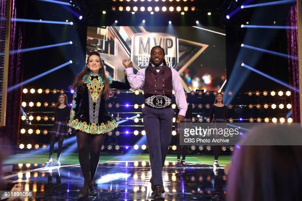 Baltimore Ravens running back Alex Collins competes to be crowned the MVP MOST VALUABLE PERFORMER during a onehour interactive talent show hosted by...