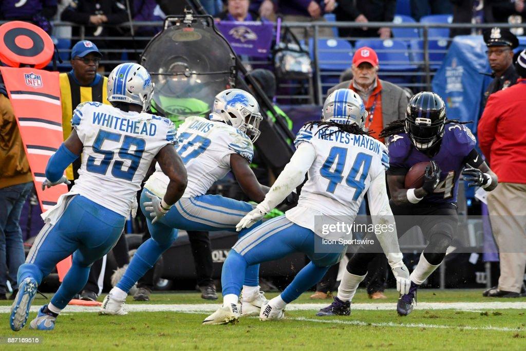 NFL: DEC 03 Lions at Ravens : ニュース写真