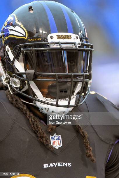 Baltimore Ravens running back Alex Collins warms up on December 23 at MT Bank Stadium in Baltimore MD The Baltimore Ravens defeated the Indianapolis...