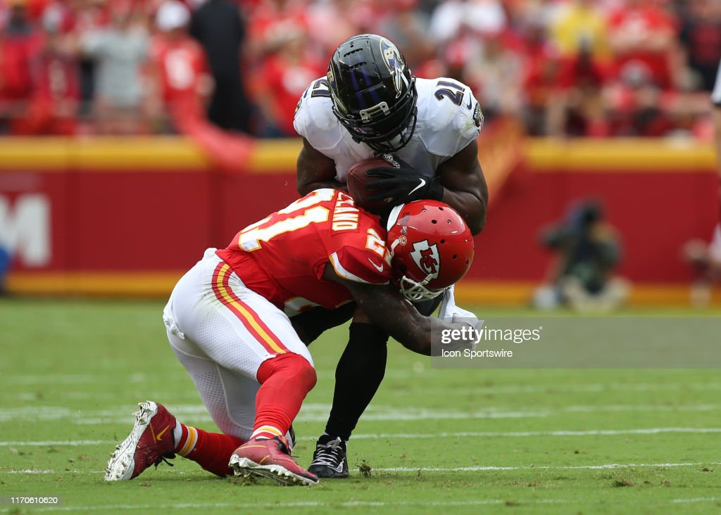 NFL: SEP 22 Ravens at Chiefs : Foto jornalística