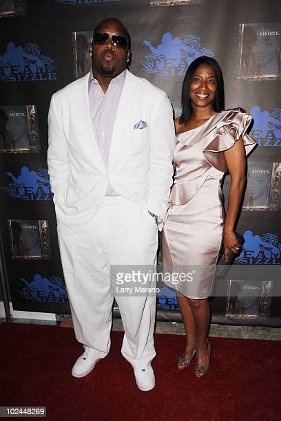 Baltimore Ravens' Terrell Suggs and Director Monica Mingo attend the premiere of 'sisters' at the American Black Film Festival at Miami Beach...