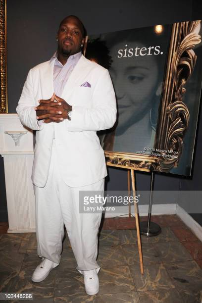 Baltimore Ravens' Terrell Suggs attends the premiere of 'sisters' at the American Black Film Festival at Miami Beach Cinematheque Theater on June 26...
