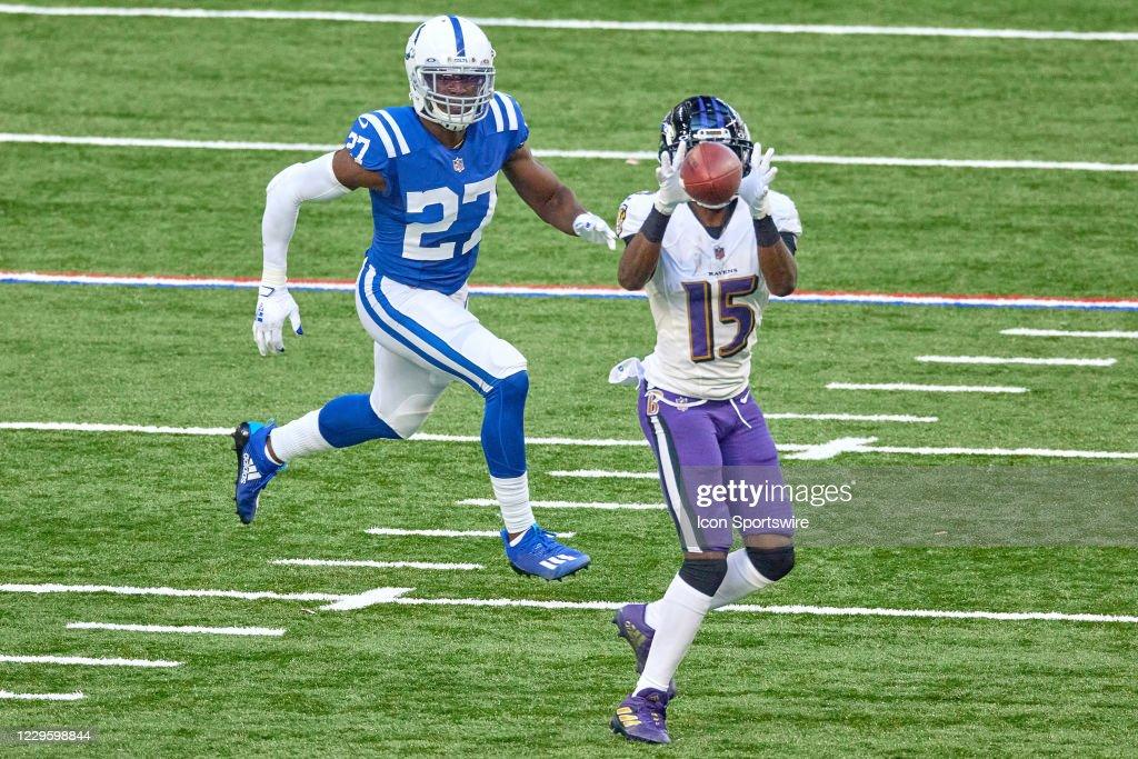 NFL: NOV 08 Ravens at Colts : News Photo