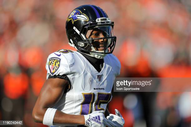 Baltimore Ravens wide receiver Marquise Brown on the field during the second quarter of the National Football League game between the Baltimore...