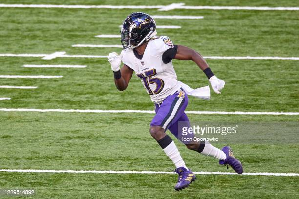Baltimore Ravens wide receiver Marquise Brown runs in action during a NFL game between the Indianapolis Colts and the Baltimore Ravens on November...