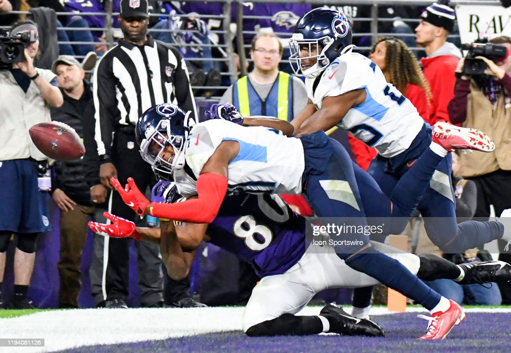 NFL: JAN 11 AFC Divisional Playoff - Titans at Ravens : News Photo