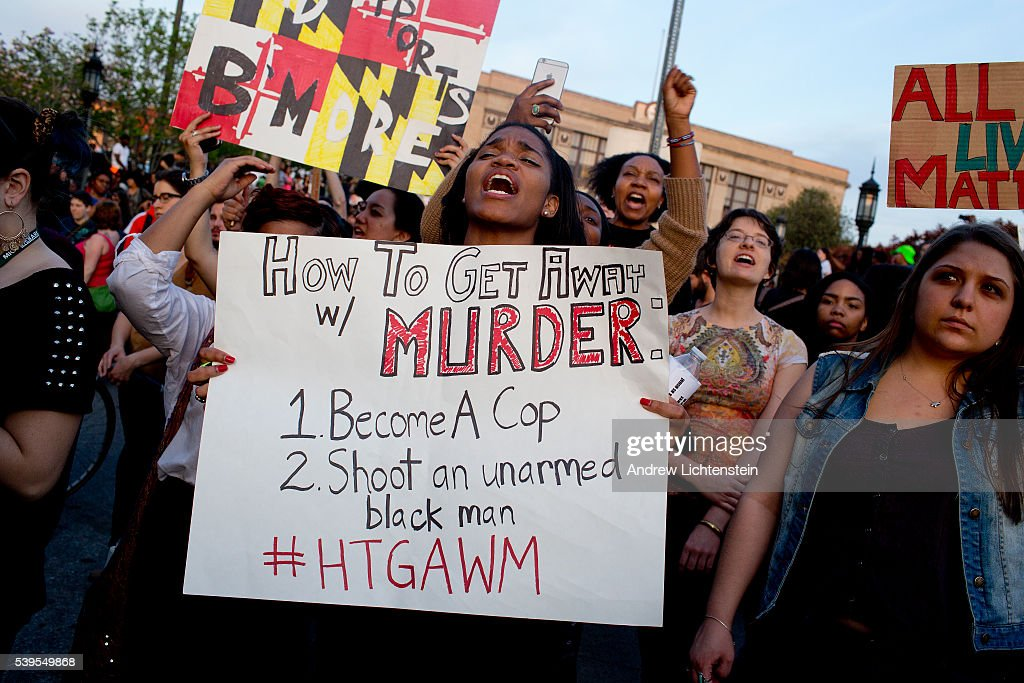 Baltimore protests Freddie Gray's death : News Photo