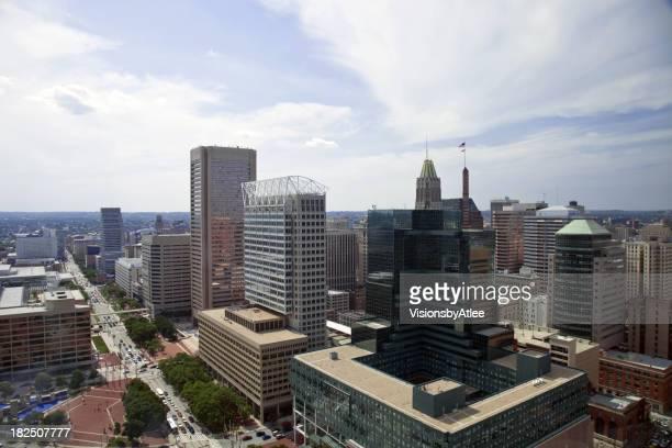 Baltimore Skyline Aerial View