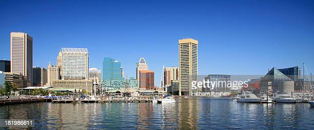 Baltimore Skyline and Inner Harbor, Baltimore, MD