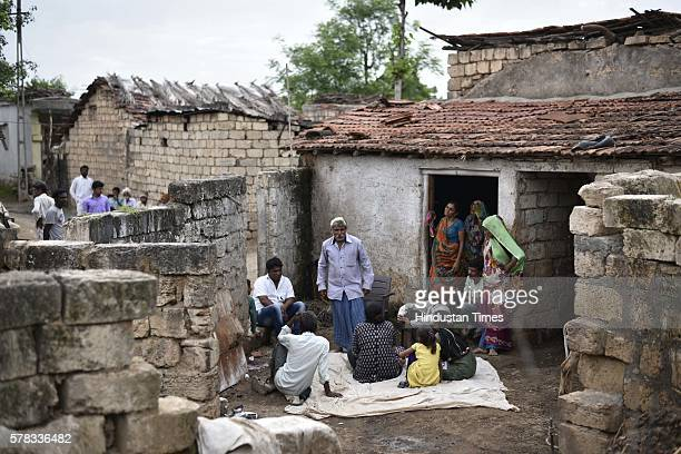 Balubhai father of Dalit victim who was brutally assaulted by selfstyled 'cow protectors' last week at Mota Samadhiyala village on July 21 2016 in...