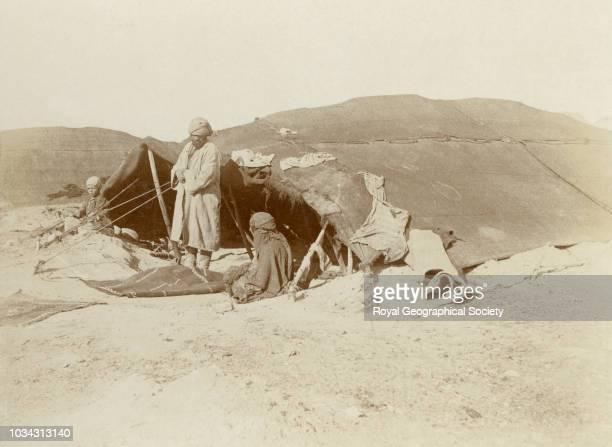 Baluchi tents in Marandiz Iran circa 1902