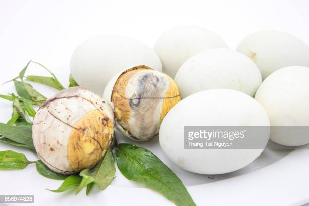 """Balut (boiled developing duck embryo) in Hoi An, Vietnam. This is a special cuisine in Asia countries. It once appeared on Fear Factor series as """"Eggs with legs"""" or the """"treat with feet."""""""