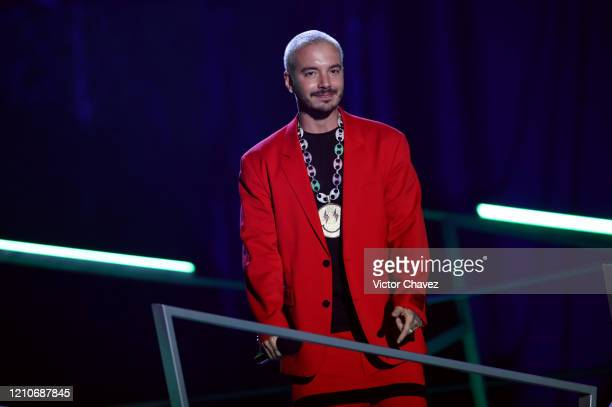Balvin accepts award for 'Artista Más Compartido' onstage during the 2020 Spotify Awards at the Auditorio Nacional on March 05 2020 in Mexico City...