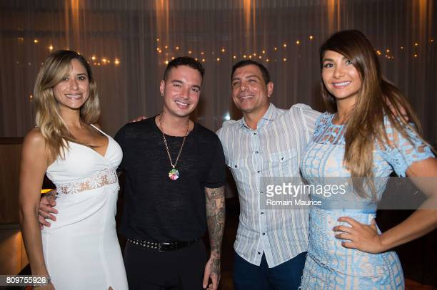 Balvin Antonio Misuraca and guest attend Haute Living Celebrates J Balvin At Matador Room At The Miami Beach Edition With Buchanan's Whisky on July 5...