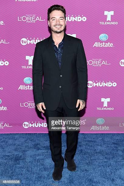 Balvin arrives at Telemundo's 'Premios Tu Mundo Awards' at American Airlines Arena on August 20 2015 in Miami Florida