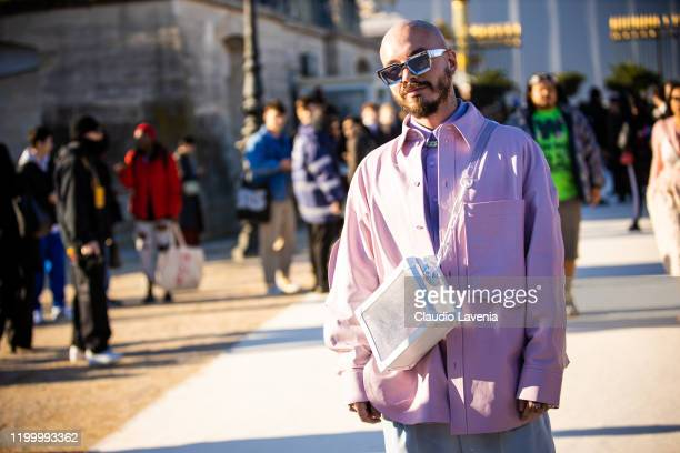 Balvin attend the Louis Vuitton Menswear Fall/Winter 2020-2021 show as part of Paris Fashion Week on January 16, 2020 in Paris, France.