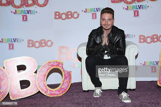 Balvin attends a press conference to promote his new single BoBo at Universal Music on May 24 2016 in Mexico City Mexico