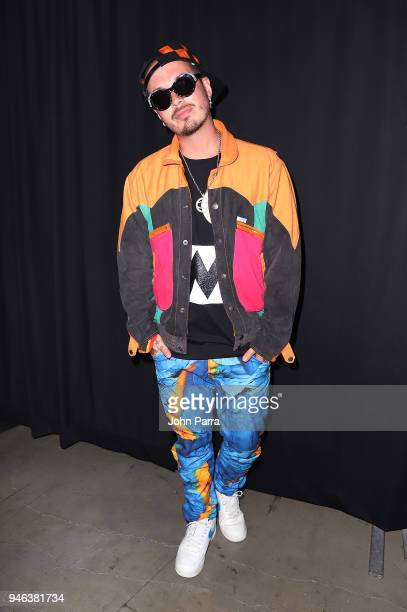 Balvin attends Miami Bash 2018 at American Airlines Arena on April 14 2018 in Miami Florida