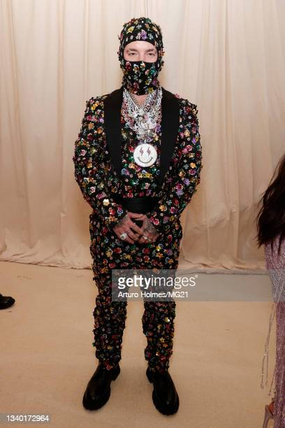 Balvin attends The 2021 Met Gala Celebrating In America: A Lexicon Of Fashion at Metropolitan Museum of Art on September 13, 2021 in New York City.