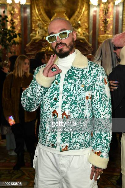 Balvin attends the Casablanca Men Menswear Fall/Winter 2020-2021 show as part of Paris Fashion Week on January 17, 2020 in Paris, France.